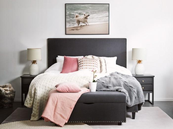 Andrea Brodin har designat sovrumsmöbler för Furniturebox.