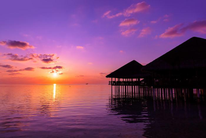 Solnedgång på Maldiverna. Foto: Shutterstock