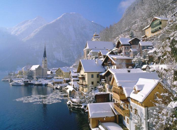 vinter-Hallstatt-Austria