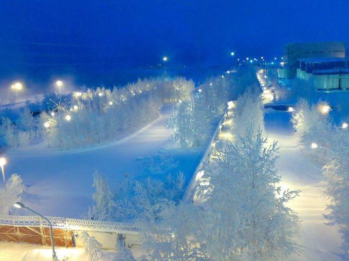 vinter-Surgut-Russia
