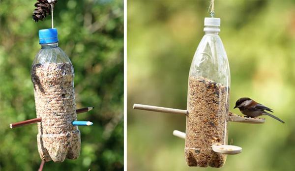 plastflaskor fagelmat