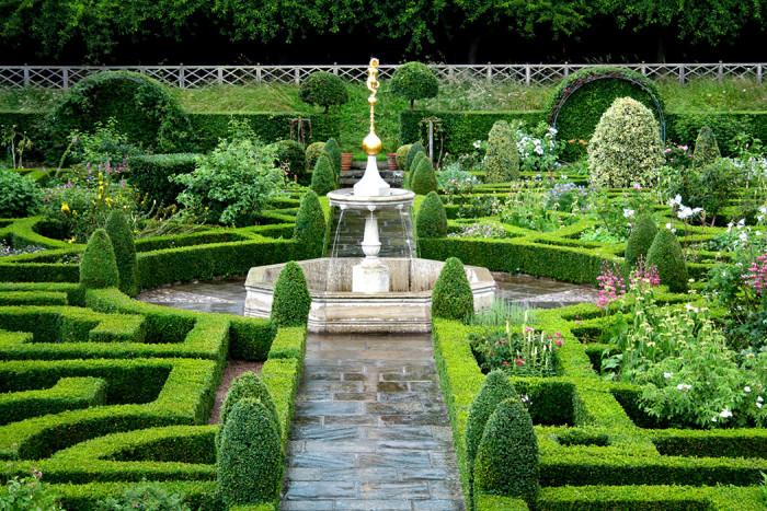 Formklippt buxbom från legendariska slottet Hatfield House utanför London.