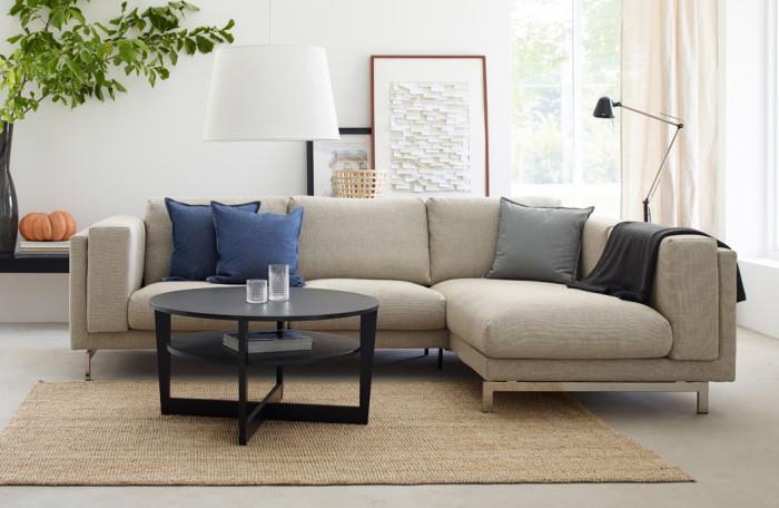 Avskalat vardagsrum. Foto: Ikea