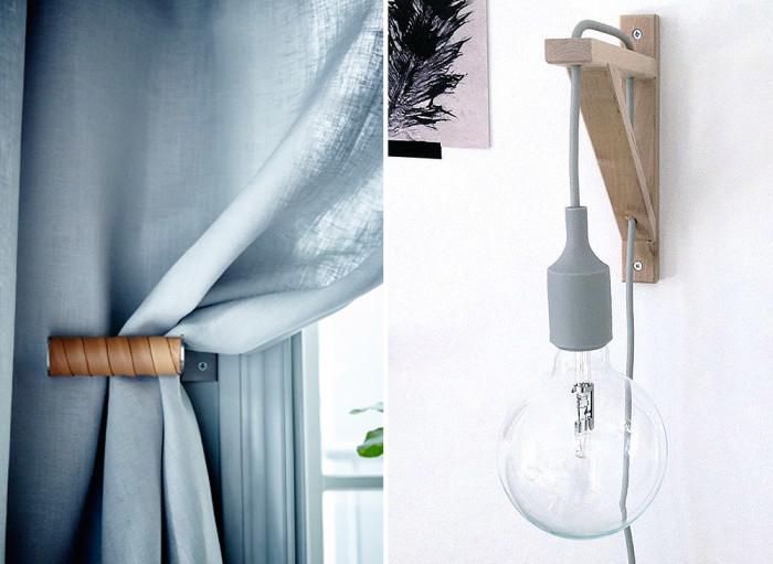 Gör en läderklädd gardinhållare eller hängande armatur!
