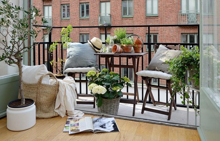 tips för att inreda liten balkong