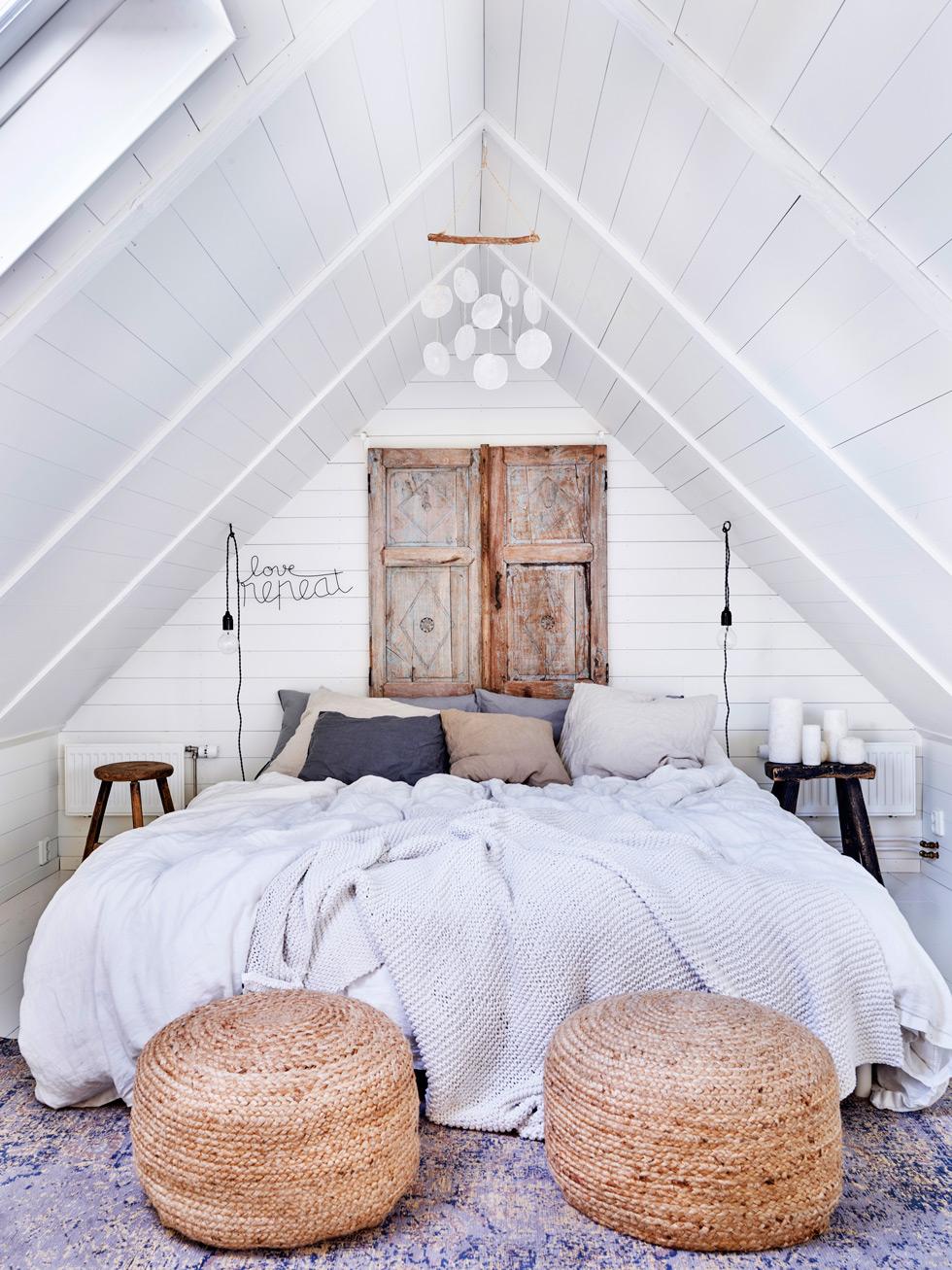 Mysigt sovrum under snedtak