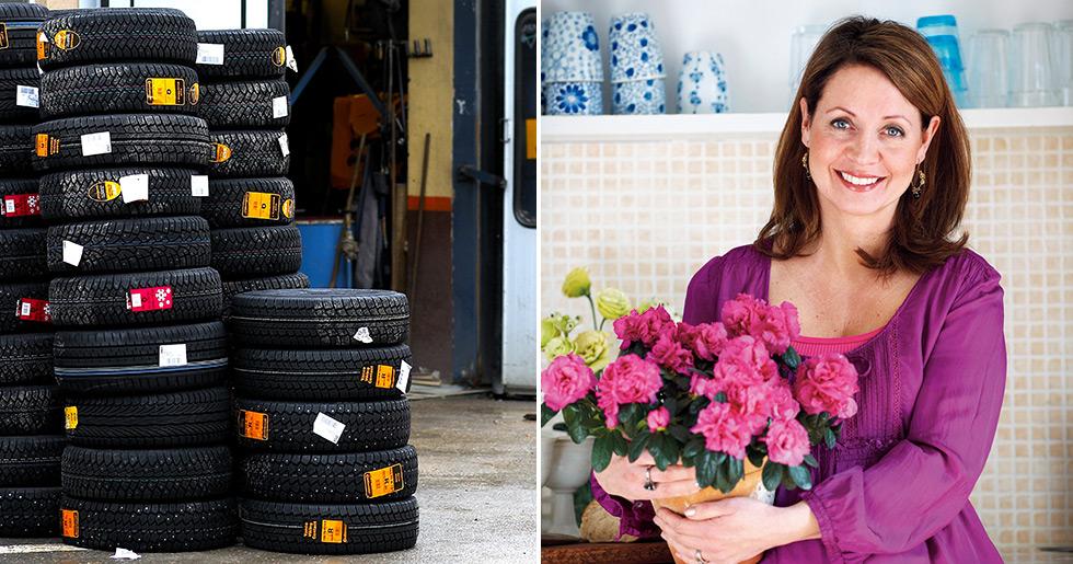 Pernilla Månsson Colt besöker en bilverkstad.