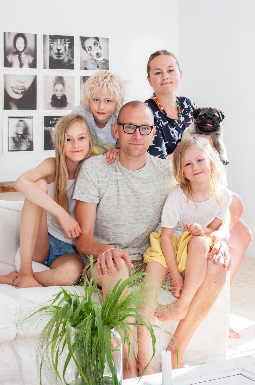 Familjen Samuelsson i Vetlanda.